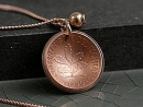 Sterling silver PFENNIG necklace-rose gold plated