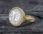 Preview: Carved Shell Moon Face Ring