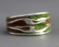 Preview: Holz Moos Echt Silber Ring