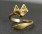 Preview: Little Fox Ring Hand-Gilded