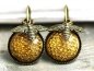 Preview: Vintage honeycomb earrings