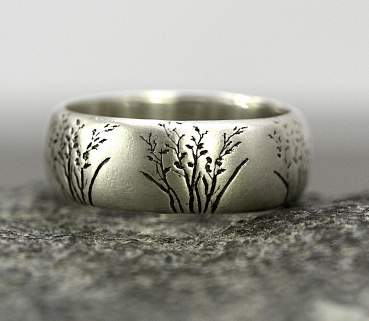 Sterling wild grasses ring