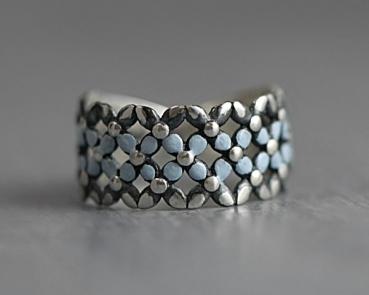 925 Sterling silver Forget me Not ring
