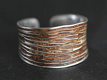 925 Sterling Tree Bark ring