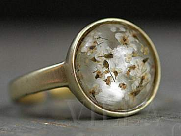 SPECIAL OFFER: Brass gold ring with flowers
