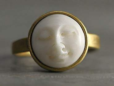 Moon Face Ring. Adjustable
