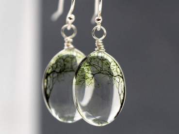 925 Sterling silver bending willow earrings