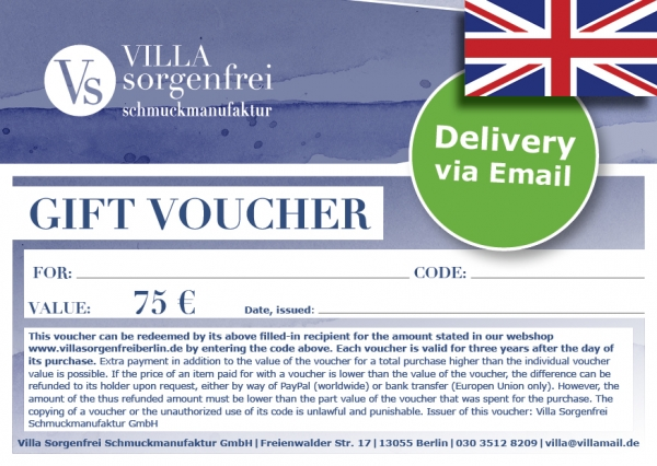Email Gift Vouchers €75
