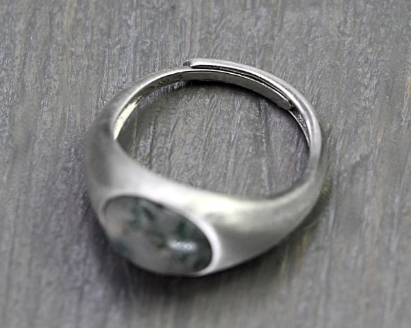 MOOSACHAT Sterling Silber Ring